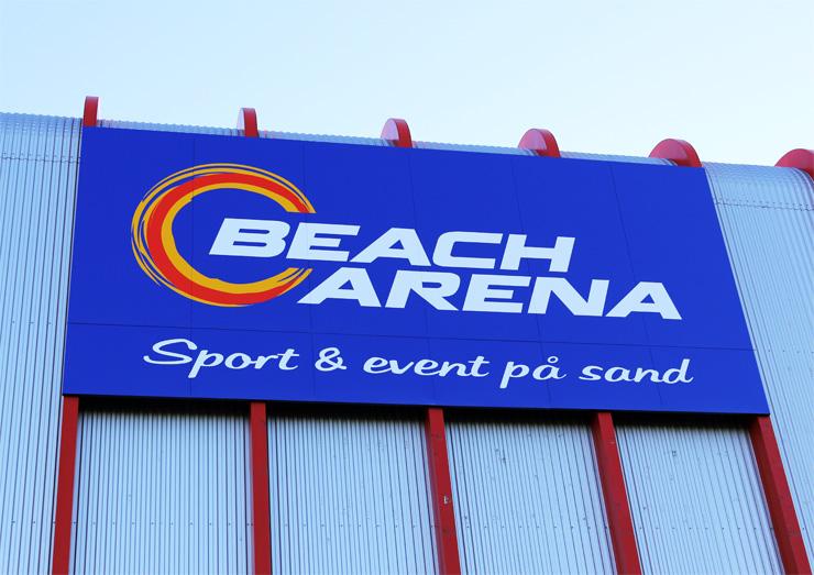 Beach Arena Skylt