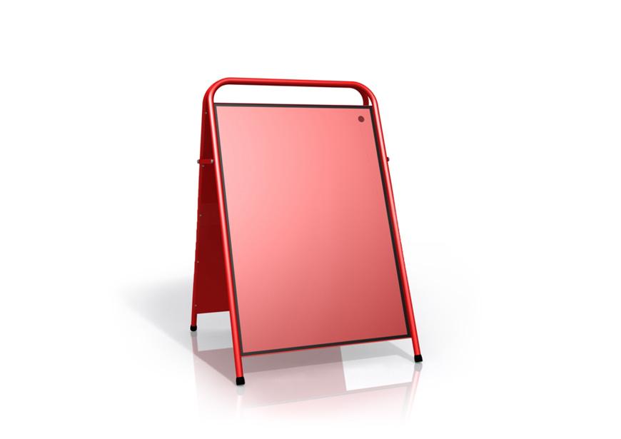Produktbild Gatupratare A-ställ magnet röd