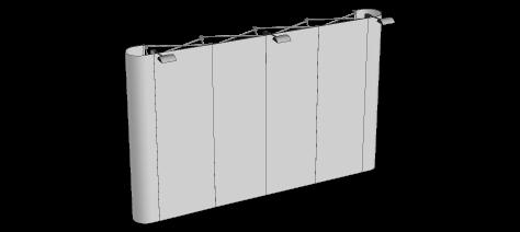 Popupvägg Rak Stor 4x3