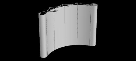 Popupvägg Svängd Stor 4x3