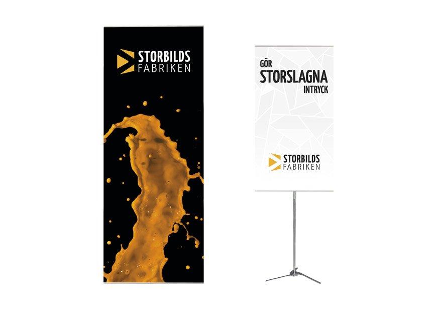 Bannerstands från Storbildsfabriken