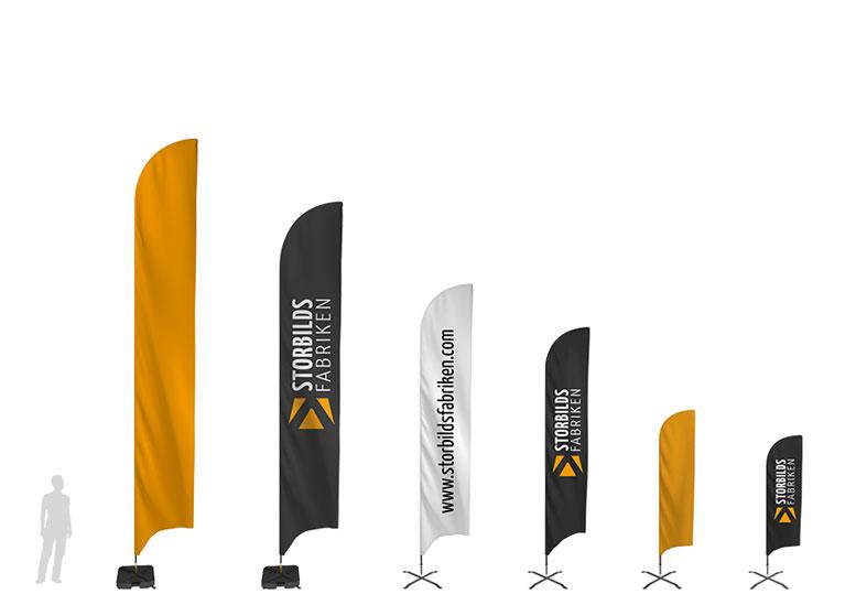 Nya storlekar för beachflaggor