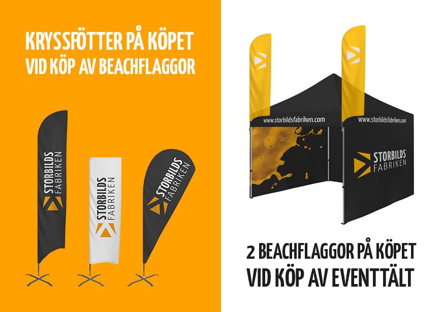 Erbjudande beachflaggor och eventtält 2017