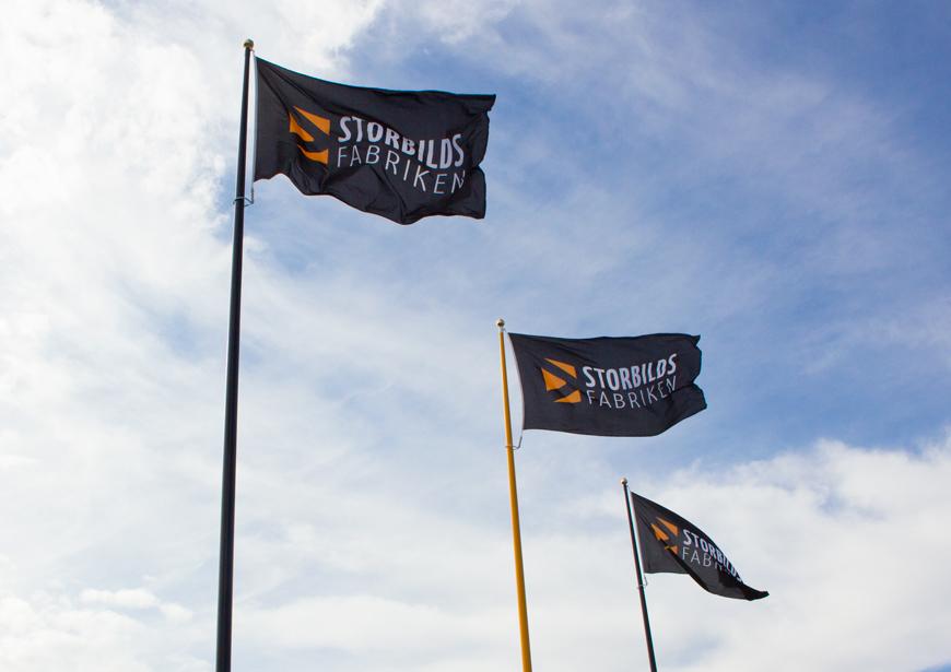 Flaggor Storbildsfabriken