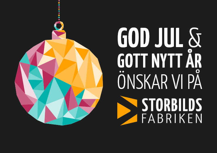 God Jul önskar Storbildsfabriken