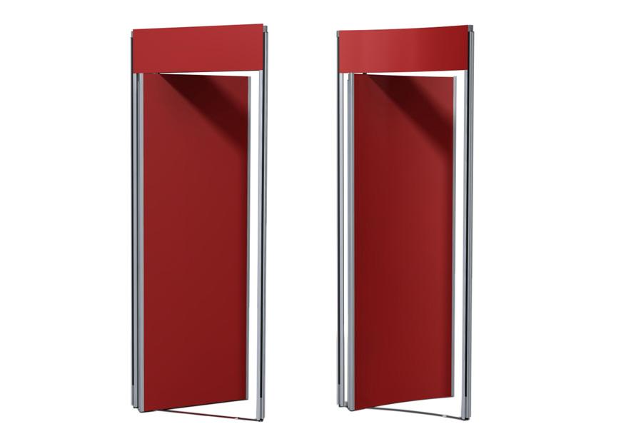 Det finns två typer av dörrar till Montervägg Flexibel