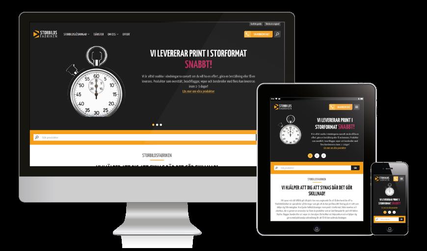 Responsiv design på nya hemsidan