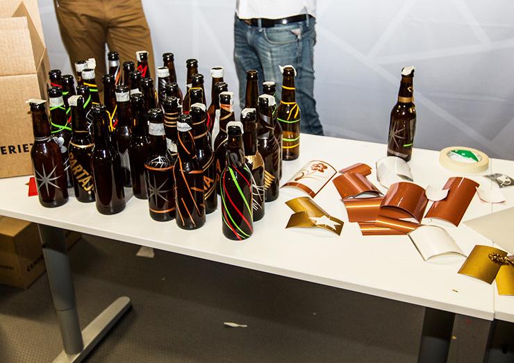 Dekorerade ölflaskor