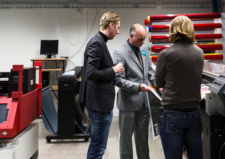 Storbildsfabrikens printerrum