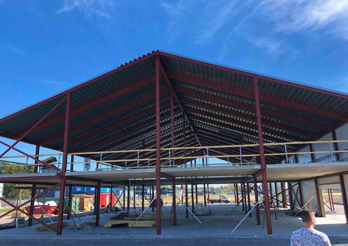 Taket på nya Storbildsfabriken